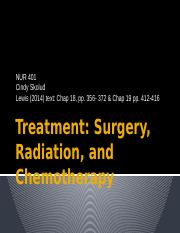 NUR 401- Treatment- Surg, Rad, Chemo-S -16 (1)