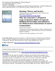 Dennis Blanco Housing, Theory and Society Taylor and Francis Journal.pdf