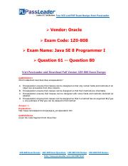 1Z0-808 Exam Dumps with PDF and VCE Download (61-80).pdf