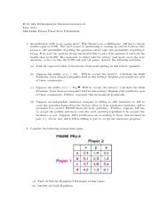 2. Midterm Exam Practice Problems