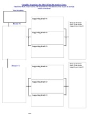Graphic Organizer for Huck Finn Persuasive Essay