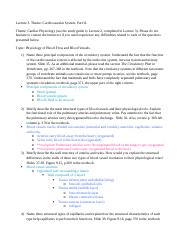 BIO4120 Lecture 3 Study Guide and Self-Assessment Questions
