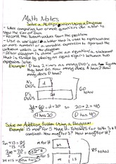 Lecture Notes on Using a Diagram