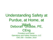 Purdue ChE200 Safety 10-10