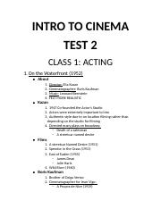 INTRO TO CINEMA TEST 2