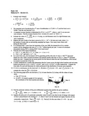 Math 242 -Midterm #1 -Review