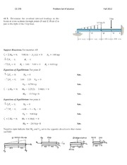 Problem Set 1 Solutions Fall 2012 on Structural Mechanics