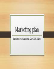 Marketing plan jagjeet