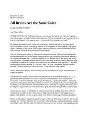 All Brains Same Color