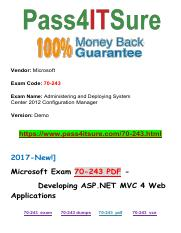 New Pass4itsure Microsoft-70-243 PDF Exam.pdf