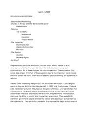 Us history 2 thesis topics