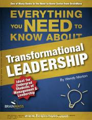 Adaptive Leadership - ACTION ASSIGNMENT B ADAPTIVE LEADERSHIP