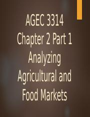 Chapter 2 AGEC 3314