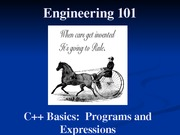 02 - C++ Basics, Programs, and Expressions