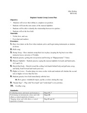 Group Lesson Plan