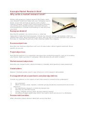 How to write a market research brief sample legal experience resume