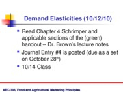 Oct 12 Demand Elasticity