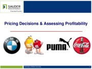 Class 2-Pricing Decisions & Assessing Profitability