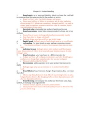 Chapter 11 and 12 (Product:Branding) Vocabulary with Definitions