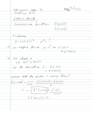 3.5 - The Chain Rule