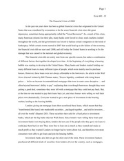 Economics Term Paper - 2007 Financial Crisis