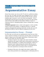 3.5.1 - Instruction - Argumentative Essay-Planning.docx