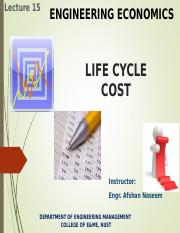 Lec.15.EE.LifeCycleCost.Afshan.SP16.ppt