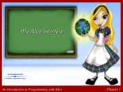 ch 1 Alice Interface