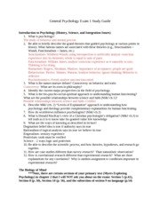 General Psychology Study Guide Exam 1 Fall 2012 (5)