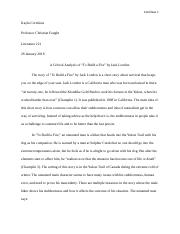 Week 4 Essay 2 To Build a Fire.docx