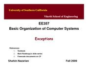 Unit10-Exceptions-EE357-Nazarian-Fall09