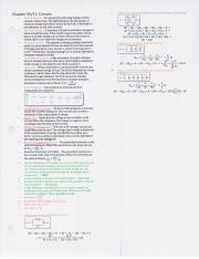 Chapter 30 and 31 - Circuits Notes