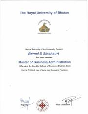 MBA certificates and mark sheets
