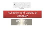 05 Reliability and Validity of Variables