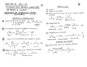 CHEM 281 2011-3 SUMMARY OF CHEMICAL REACTIONS