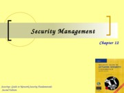 Ch12 - Security Management