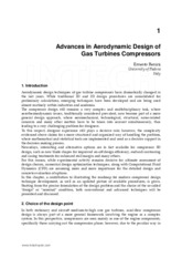 Advances in Aerodynamic Design of Compressor