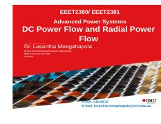 EEET2380-81-Lecture_5-DC Power Flow and Radial Power Flow.pdf