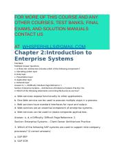 Test Bank for Integrated Business Processes with ERP Systems 1st Edition by Simha R. Magal Jeffrey W