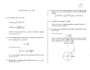 Math 101 Apr 92 Questions