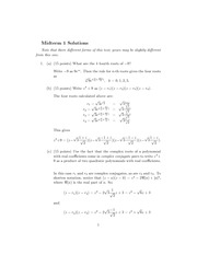 Midter 1 Exam Solutions