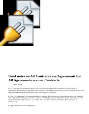 Brief notes on All Contracts are Agreements but All Agreements are not Contracts.htm