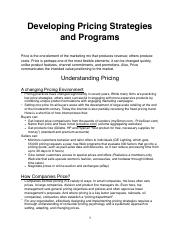 Developing Pricing Strategies and Programs .pdf