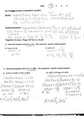 Exact Solutions to Equations