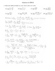Solutions for HW04