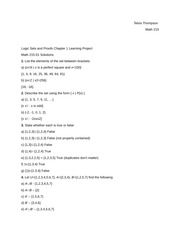 Logic Sets and Proofs Chapter 1 Learning Project Perfect Squares