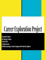 Career Exploration PowerPoint Project