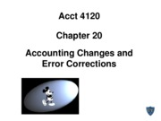 Acct 4120 Chapter 20 Spiceland 5th edition