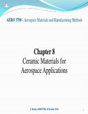 Chapter 8 - Ceramic Materials for Aerospace Applications