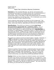 Paper Two Guidelines (Literature Review)--Social Science--S16-2.doc